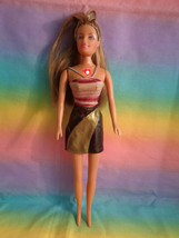 Barbie Size Doll With Honey Blonde Hair Light-up Necklace & Bodice - As Is - $4.90