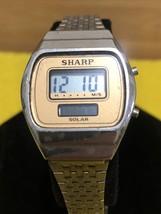 Vintage Solar Sharp Wrist Watch Women's LCD Digital Solar Watch  New Bat... - $27.69
