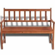 vidaXL Acacia Wood Classic Bench Outdoor Garden Chair Furniture Porch Outdoor image 2
