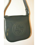 GUCCI VINTAGE SOHO DISCO ICONIC PATENT LEATHER SHOULDER BAG GREEN - $456.13