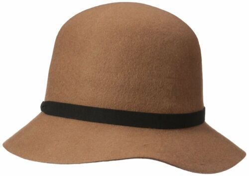 Nine West Wool Felt Cloche Hat with 3D Flower Detail Black One Size