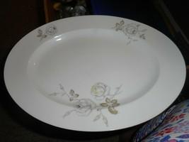"""Johann Haviland Sweetheart Rose Platter 12.5"""" White w Pink Yellow Roses/Has #79 - $19.79"""