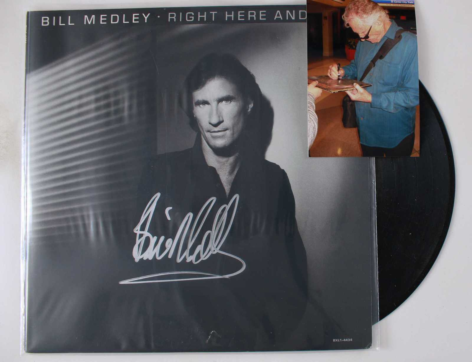 Primary image for Bill Medley Signed Autographed Record Album w/ Proof Photo