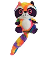 "Toy Factory Big Eyed Rainbow Raccoon Plush Stuffed Animal Soft Toy 12"" EUC - $29.99"
