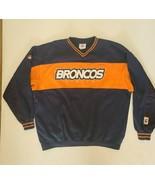 Vtg Denver Broncos NFL Navy Blue Crewneck Vented Mesh Sweatshirt Size XL - $29.45