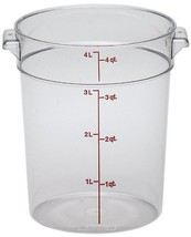 Cambro RFSCW4135 Camwear Round Food Storage Container, Polycarbonate, 4-... - $14.75