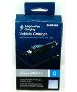 Samsung Galaxy OEM Fast Adaptive Car Charger Rapid Charging with USB Ada... - $4.95