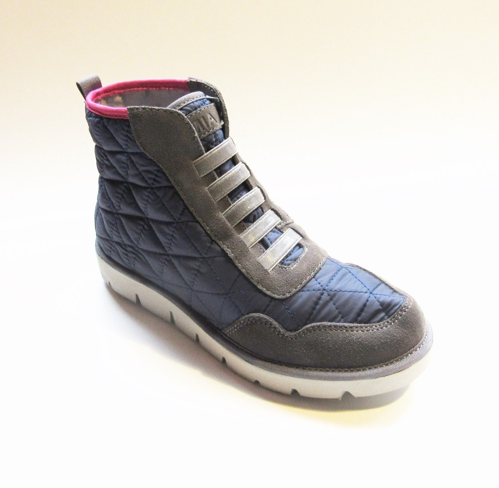 f4b3c2d3da MIA High-top Quilted Blue Gray & Pink Trainers Sneakers Sz 6, 6.5, 7.5 NWOB  - $34.71 - $40.84