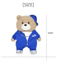Ezen Creation Hippop Stuffed Animal Teddy Bear Plush Toy 35cm 13.7 inches (Blue) image 5