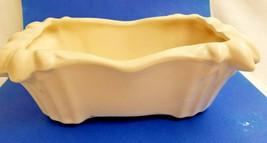"""McCoy Pottery Flower Pot Vase Container Porcelain Rectangular White 3"""" Tall - $34.99"""