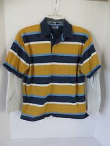 Boys Children's Place Dark Blue Layered Striped Polo Size L - $4.99