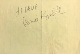 Bernie Kopell Autographed Signed 3x5 Index Card Get Smart The Love Boat w/COA - $13.99