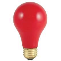 40 Watt Incandescent Standard A19 Medium Base Ceramic Red, Case of 48 - $130.82