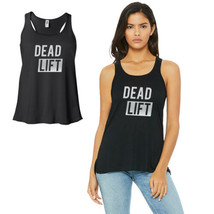 365 Printing Dead Lift-SILVER Work Out Womens Black Tank Top Vinyl Printed - $22.99+
