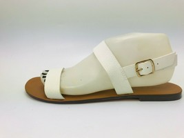 J. Crew Women's Malta Sandals White Leather Size 9M - $24.74