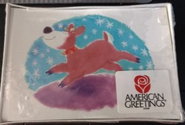 greeting cards christmas multi pack American greetings reindeer holiday - $9.50