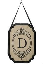 Evergreen Elegant Monogram D Burlap Door Decor - $14.80