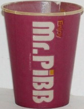 Vintage paper cup MR PIBB by Coca Cola 4oz size unused new old stock excellent++ - $8.99