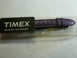 Timex Replacement Watch Band - Purple - Embossed Genuine Leather - $9.89