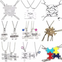 DIY Best Friends Necklace Letter Her One His Only Necklaces&Pendants Love Heart  - $10.22