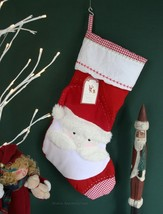 POTTERY BARN QUILTED SANTA STOCKING -NWT- WONDERFUL WHIMSY FOR YOUR HO-H... - $39.95