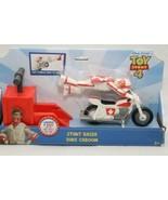 Toy Story 4 Disney Pixar Stunt Racer Duke Caboom Figure Stunt Bike Launc... - $24.70