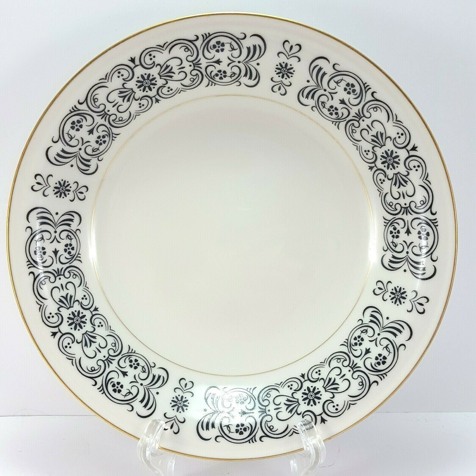 Primary image for Mikasa Riviera 205 Coupe Soup Cereal Bowl Ivory Black Scrolls 7.75""