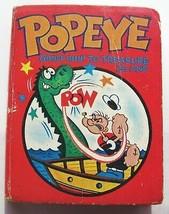 Big Little Book Popeye Ghost Ship Treasure Island 1967 Vintage Small Har... - $4.85