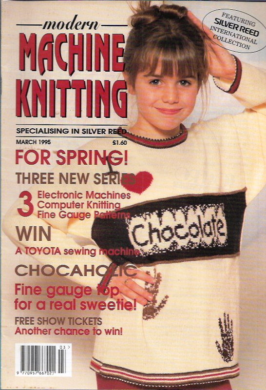 Primary image for Modern Machine Knitting Mar 1995 Magazine Chocaholic Chocolate Lover Issue