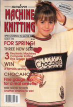 Modern Machine Knitting Mar 1995 Magazine Chocaholic Chocolate Lover Issue - $5.69
