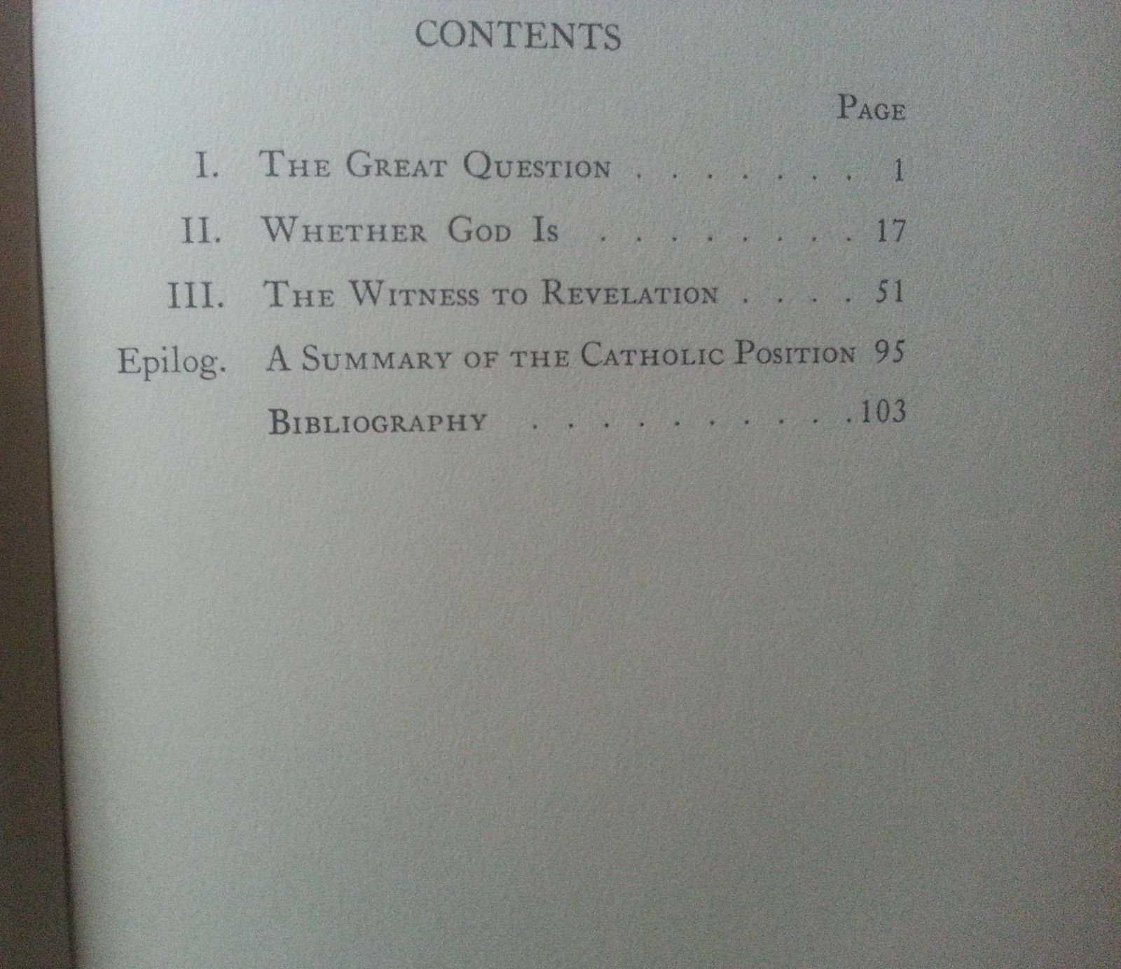 The Question and The Answer by Hilaire Belloc 1932 HBDJ Catholic Thought