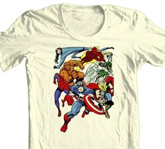 MARVEL Comic T-shirt Superhero collage vintage retro comic book 100% cotton tee image 1