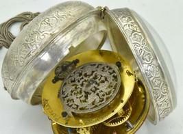 MUSEUM Renaissance Pascal Hubert Verge Fusee Oignon silver pocket watch ... - $6,907.01