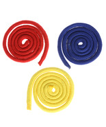 Three Strings linking Ropes Magic Trick Red&Yellow& Blue Rope Magic Perf... - $18.69