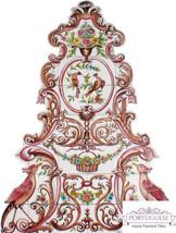 FLORAL ART Hand Painted Ceramic Tile Mural Backsplash   Custom Painted I... - $1,250.00