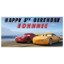 Disney Cars Birthday Banner Personalized Party Decoration - $29.58 CAD+