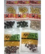 Macrame Beads 8 Packs of VIntage beads Hazel pearson Uni Craft Look! - $18.69