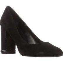 MICHAEL Michael Kors Jamie Pump Classic Heels, Black Suede, 8 US / 38.5 EU - $91.19
