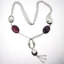 925 Silber Halskette, Jade Violet, Kette Mehrere, Anhänger Wasserfall, Tropf image 2