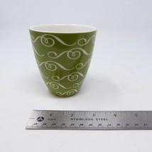 Starbucks Green Coffee Mug Cup Bowl 2010 New Bone China Green and White Swirls - $14.80