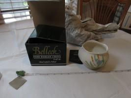 Belleek Pottery LTD Blue butterfly bowl 1632 H5364 NOS NEW fine Parian C... - $49.00