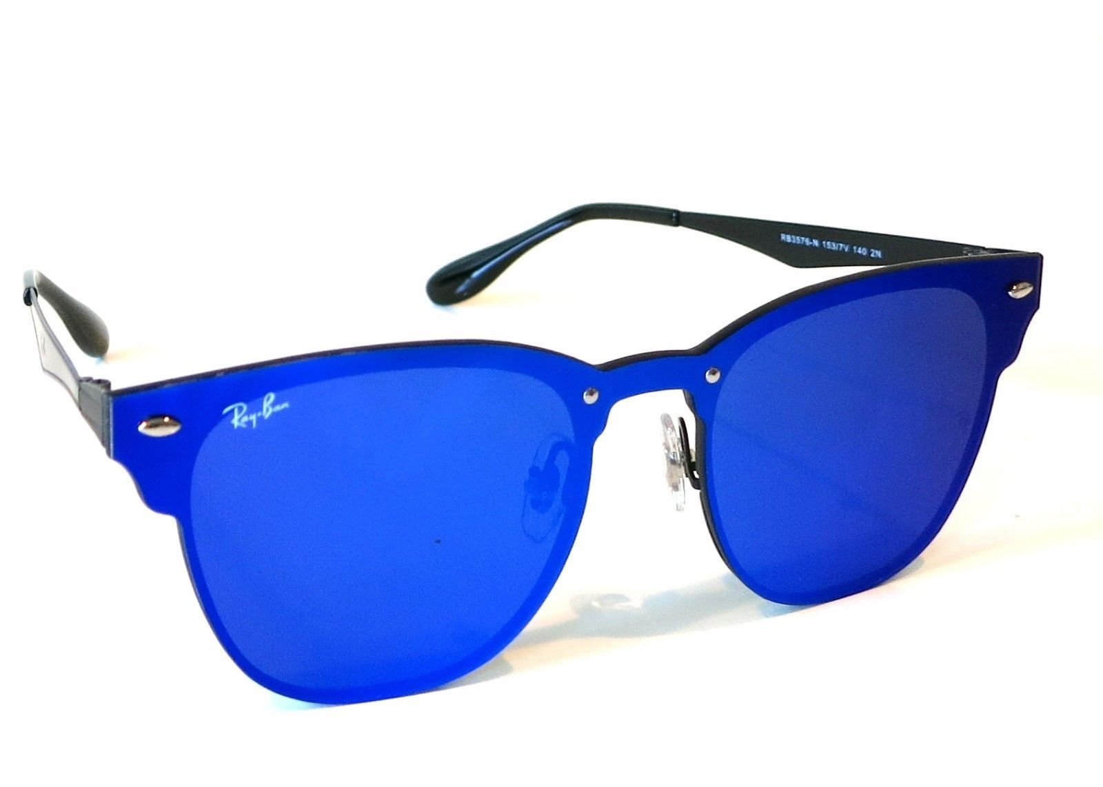 f948661217 S l1600. S l1600. Previous. Rayban Blaze Clubmaster Sunglasses RB3576N  153 7V 47 Violet Blue Mirror club