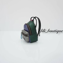 NWT Coach F39972 Metallic Colorblock Mini Backpack Coin Bag Charm Keyring $125 image 1
