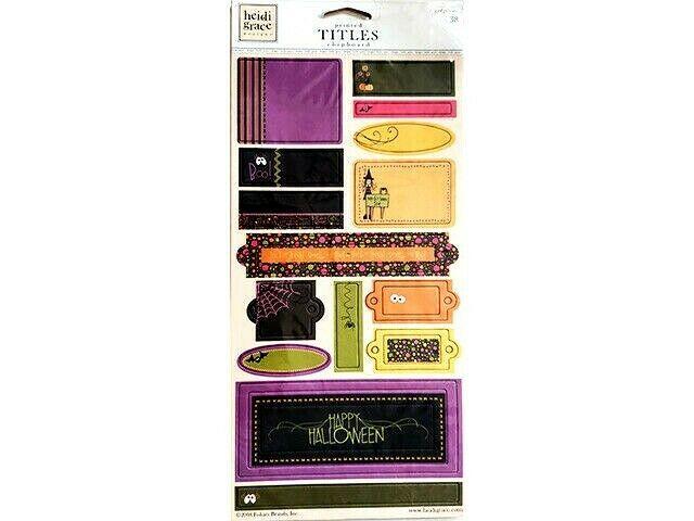 Heidi Grace Designs Halloween Chipboard Titles #01-003376