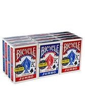 Bicycle Poker Standard Size Jumbo Face Index Playing Cards, Blue/Red, 12 Piece - $29.15
