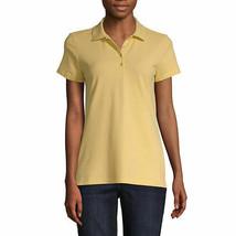 Nwt St. John's Bay Light Yellow Short Sleeve Polo Shirt Size Large - $18.80