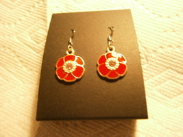 Red Poppy Earrings - $12.00