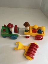 Fisher price 4 little people, farm tractor 2 Carts - $24.75