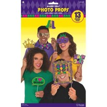 Mardi Gras Photo Prop Kit 13 Pc - $9.30