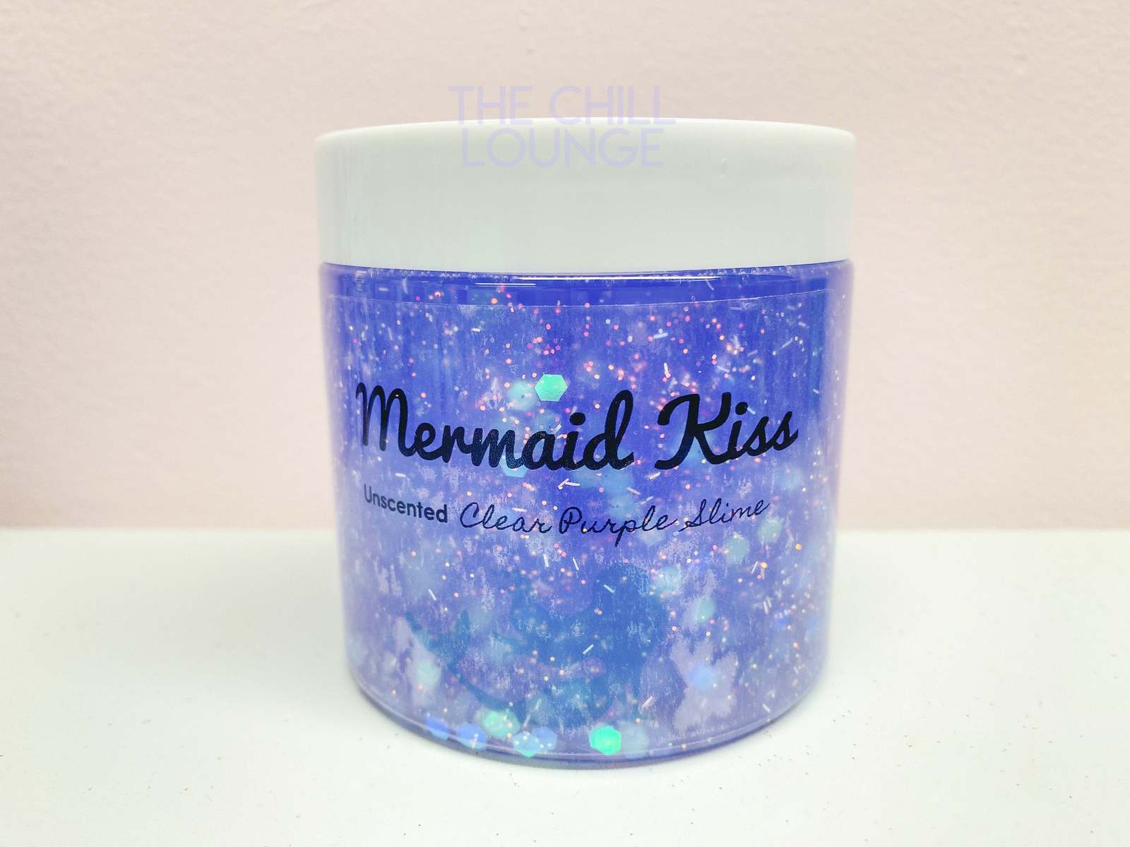 Mermaid Kiss Holographic Chunky Glitter Stretchy Clear Slime with MERMAID CHARM